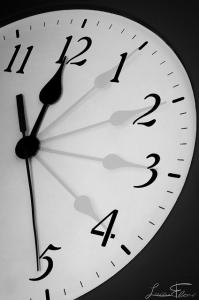 Photo d'une horloge